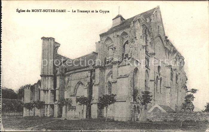 Mont Notre Dame Eglise Le Transept et la Crypte Monument historique Kat. Mont Notre Dame