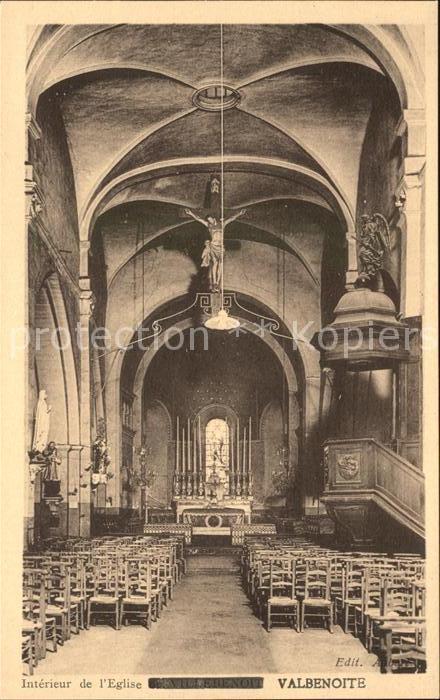 Saint Etienne Loire Interieur de l Eglise Valbenoite Kat. Saint Etienne