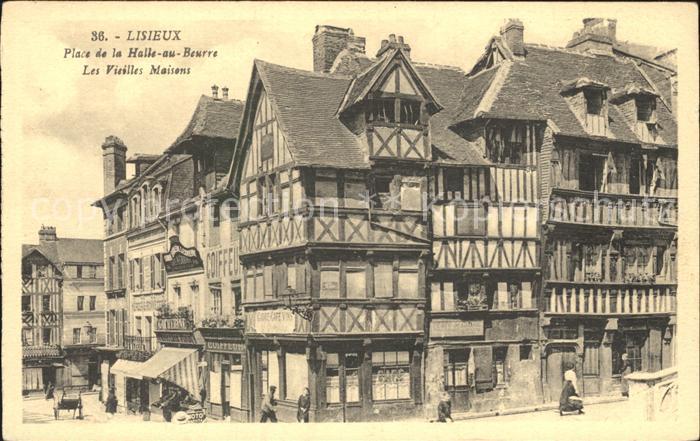 Lisieux Place de la Halle au Beurre Vieilles Maisons Kat. Lisieux