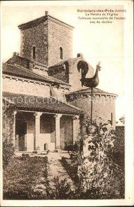 Germigny des Pres La Porche de l Eglise Coq du Clocher Kat. Germigny des Pres