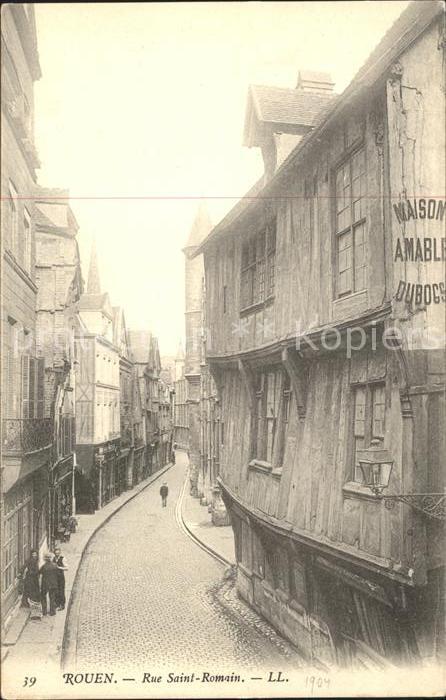 Rouen Rue Saint Romain Kat. Rouen