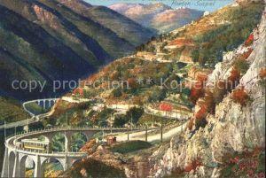 Menton Alpes Maritimes Route a Sospel Castillon Viaducs du Caramel et du Carai Kat. Menton