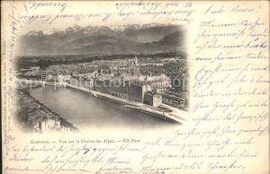 Grenoble Vue sur la Chaine des Alpes Kat. Grenoble