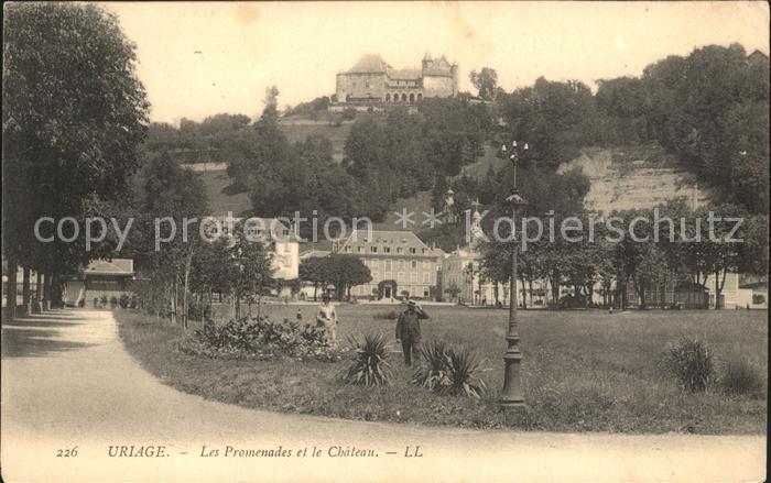 Uriage les Bains Isere Les Promenades et le Chateau Kat. Vaulnaveys le Haut