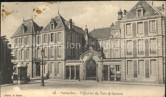 Montauban Prefecture du Tarn et Garonne Kat. Montauban