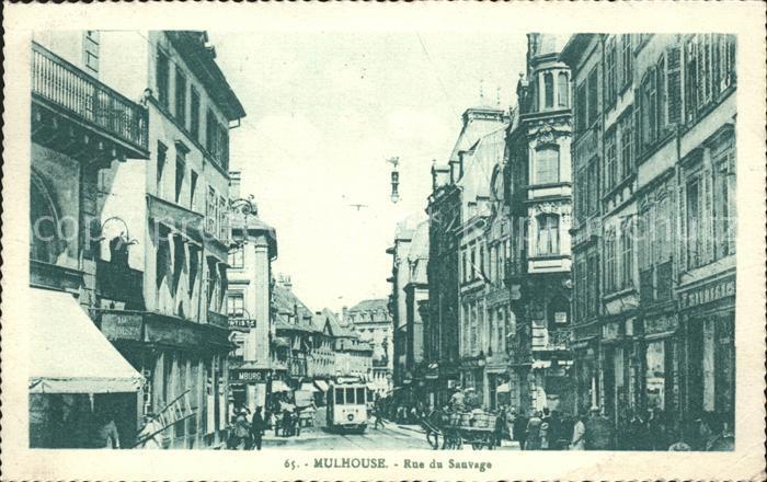 Mulhouse Muehlhausen Rue de Sauvage Kat. Mulhouse