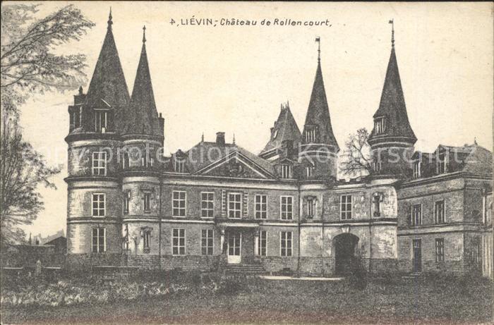 Lievin Chateau de Rollencourt Schloss Kat. Lievin