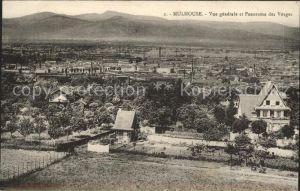 Mulhouse Muehlhausen Vue generale et Panorama des Vosges Kat. Mulhouse