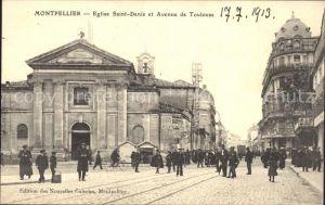 Montpellier Herault Eglise Saint Denis et Avenue de Toulouse Kat. Montpellier