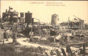 Berry au Bac Ruines de la Sucrerie Grande Guerre 1. Weltkrieg Kat. Berry au Bac
