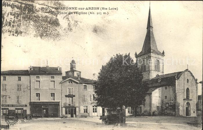 Craponne sur Arzon Place de l Eglise Kat. Craponne sur Arzon