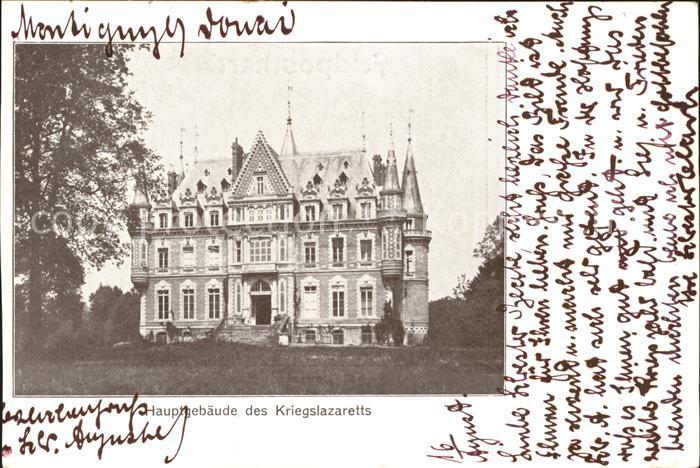 Montigny en Ostrevent Hauptgebaeude des Kriegslazaretts 1. Weltkrieg Grande Guerre Kat. Montigny en Ostrevent