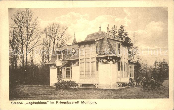 Montigny en Ostrevent Station Jagdschloss im Kriegslazarett Kat. Montigny en Ostrevent