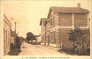 Le Temple Gironde Mairie Ecoles et Route du Porge Kat. Le Temple