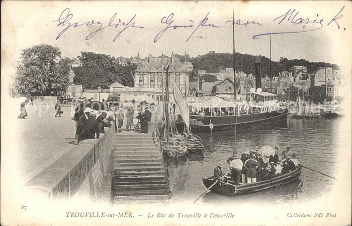 Trouville sur Mer Le Bac de Trouville a Deauville Kat. Trouville sur Mer