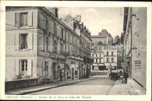 Chalais Charente Avenue de la Gare et Coin des Ecrases Kat. Chalais