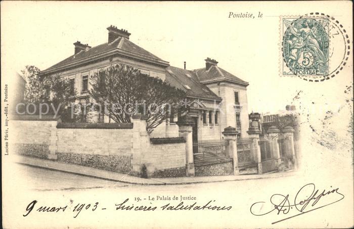 Pontoise  Val d Oise Palais de Justice Kat. Pontoise