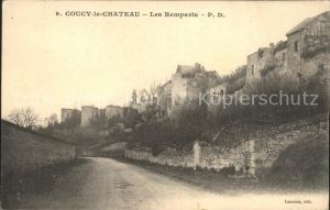 Coucy le Chateau Auffrique Les Remparts Kat. Coucy le Chateau Auffrique