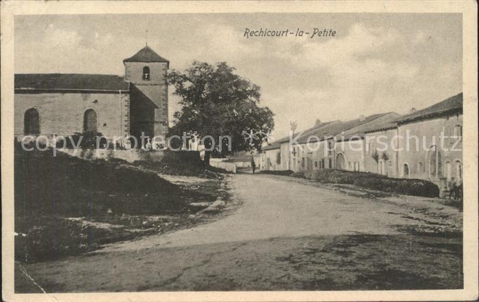 Rechicourt la Petite Strassenpartie Kirche Kat. Rechicourt la Petite