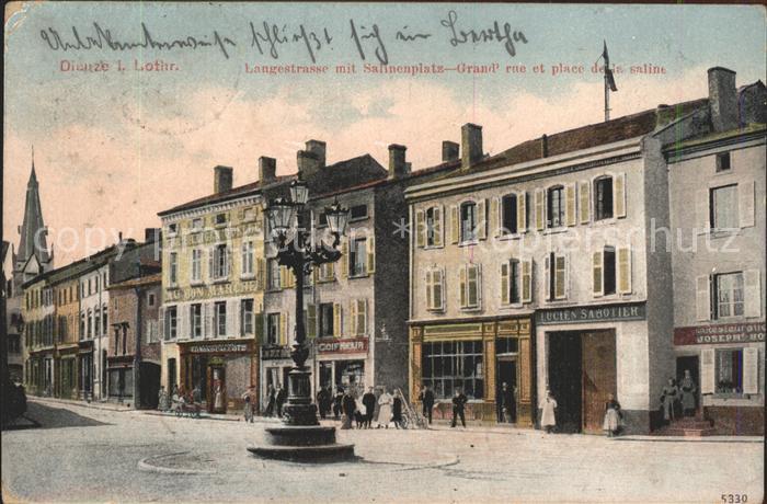 Dieuze Langestrasse Salinenplatz Grande Rue Place Kat. Dieuze