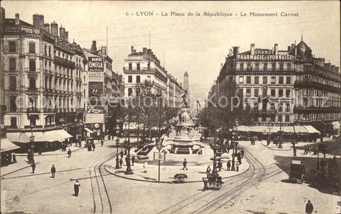 Lyon France Place de la Republique Monument Carnot Kat. Lyon