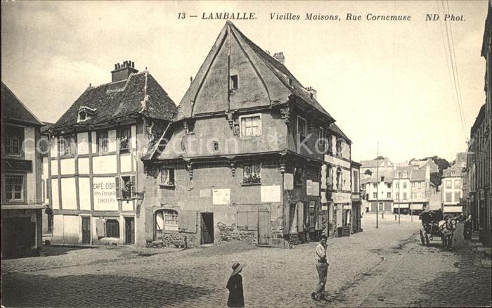 Lamballe Vieilles Maisons Rue Cornemuse Kat. Lamballe