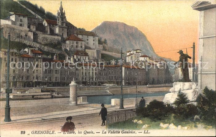Grenoble Isere Quais La Vedette Gauloise Monument Kat. Grenoble