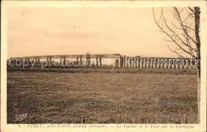 Cubzac les Ponts Viaduc et Pont sur la Dordogne Kat. Cubzac les Ponts