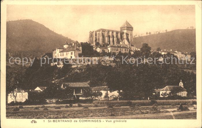 Saint Bertrand de Comminges Vue generale Cathedrale Kat. Saint Bertrand de Comminges