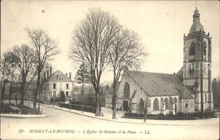 Nogent le Rotrou Eglise St Hilaire et la Place Kat. Nogent le Rotrou