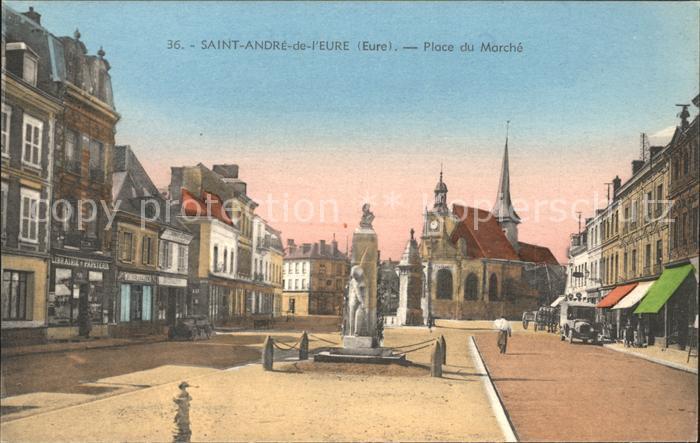 Saint Andre de l Eure Place du Marche Kat. Saint Andre de l Eure