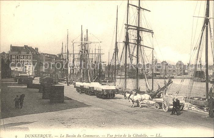 Dunkerque Bassin du Commerce Bateaux vue prise de la Citadelle Kat. Dunkerque