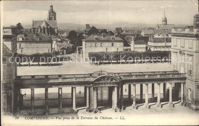 Compiegne Oise Vue prise de la Terrasse du Chateau Kat. Compiegne