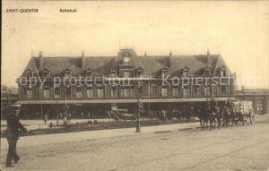 Saint Quentin La Gare Bahnhof Pferdefuhrwerk Kat. Saint Quentin