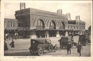 Saint Quentin La Gare Automobil Bahnhof Kat. Saint Quentin