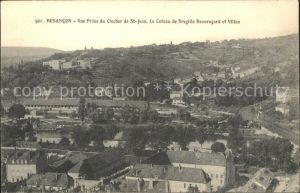 Besancon Doubs Vue prise du Clocher de St Jean Coteau de Bregille Beauregard Villas Kat. Besancon