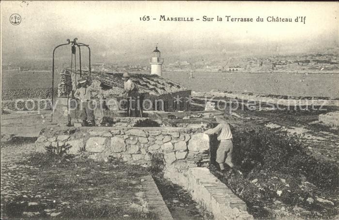 Marseille Sur la Terrasse du Chateau d If Kat. Marseille