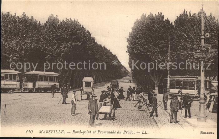 Marseille Rond point et Promenade du Prado Kat. Marseille