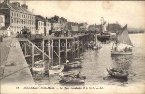 Boulogne sur Mer Quai Gambetta Port Bateau Kat. Boulogne sur Mer