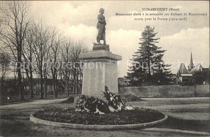 Nonancourt Monument eleve a la memoire des Enfants Statue Kat. Nonancourt