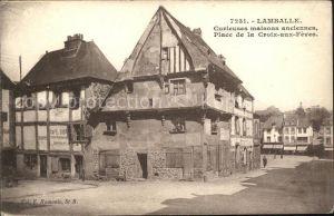 Lamballe Curieuses maisons anciennes Place de la Croix aux Feves Kat. Lamballe
