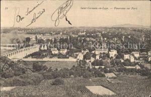 Saint Germain en Laye Panorama sur Paris Kat. Saint Germain en Laye