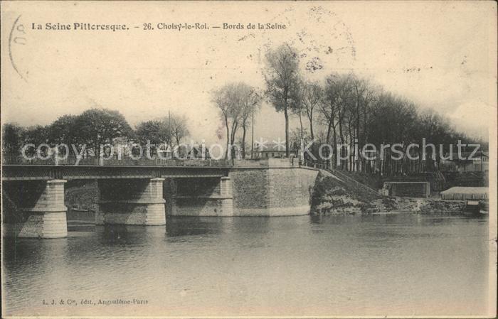 Choisy le Roi Pont Bords de la Seine Kat. Choisy le Roi