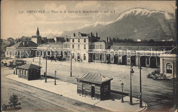 Grenoble Place de la Gare et le Moucherotte Alpes Kat. Grenoble