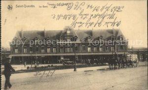 Saint Quentin La Gare Bahnhof Pferdewagen Kat. Saint Quentin