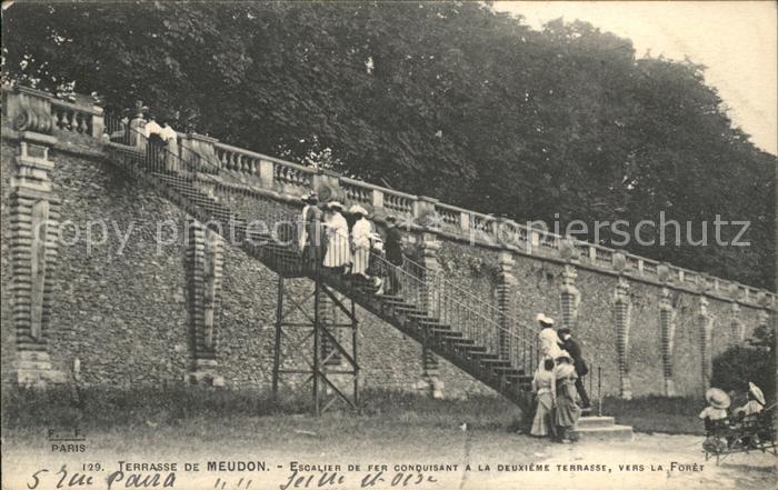 Meudon Escalier de Fer Terrasse Kat. Meudon Nr. sw05245 - oldthing ...