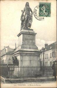 Chartres Eure et Loir Statue de Marceau Monument Stempel auf AK Kat. Chartres
