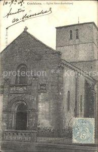 Confolens Eglise Saint Barthelemy Kat. Confolens