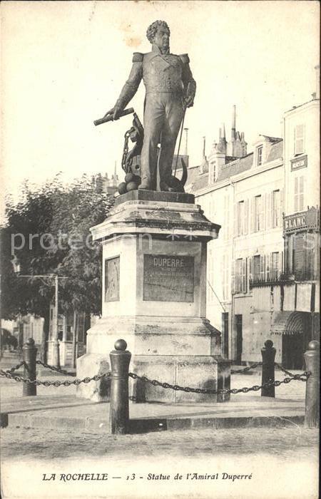 La Rochelle Charente Maritime Statue de l Amiral Duperre Monument Kat. La Rochelle