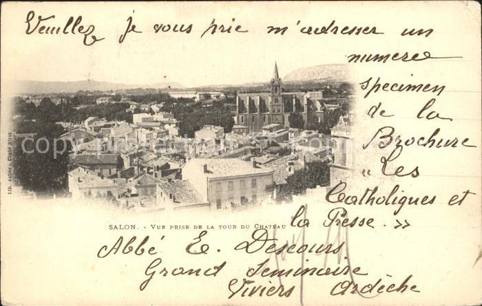 Salon de Provence Vue prise de la Tour du Chateau Kat. Salon de Provence